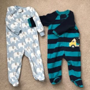 Two cozy footie sleepers